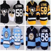 alternate hockey jerseys - Hot Kris Letang Ice Hockey Jerseys Pittsburgh Penguins Kris Letang Jersey Throwback Alternate Yellow Black Navy Blue White