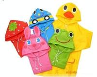 Wholesale Funny Rain Coat Kids children Raincoat Rainwear Rainsuit Kids Waterproof poncho Animal Raincoat