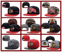 beanie visor blue - Hot Collection Men s Chicago Blackhawks Snapback Embroidery Team Logo Sports Adjustable Ice Hockey Caps Hip Hop Flat Visor Hat Send In Box
