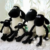Wholesale EMS FREE stuffed animals black sheep plush toys cm Shaun the sheep cute soft plush dolls small sheep toys gifts