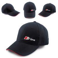 audi race car - S line D Hat Cap Car Sline Logo Moto Racing Baseball Cap Adjustable Casual Hat For Audi A1 A3 A4 B6 B7 B8 A6 C5 A5 Q5 Q7 TT