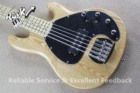Caliente la venta de música hombre Bass 5 Cuerdas Erime bola de la guitarra eléctrica de la pastinaca pastilla activa herrajes cromados en stock