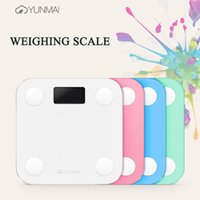 Wholesale Yunmai Mini Smart Weighing Scale Digital Health Scale Body Fat Scale weighing Support Android IOS7 Bluetooth
