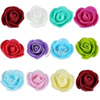 Wholesale 500PCS Mini cm Artificial Flower Heads PE Foam Roses DIY Wedding Home Decor Gifts Scrapbooking Decorative Flowers Wedding Favor