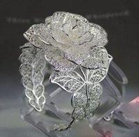 Wholesale cheap Beautiful Blooming Rose Miao Silver Bracelet