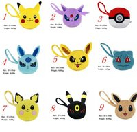 Wholesale Hot Poke go wallet bags Children cartoon Poke Ball Pikachu Jeni turtle Sylveon Keychain wallet baby bag Accessories Fashion Coin Purse