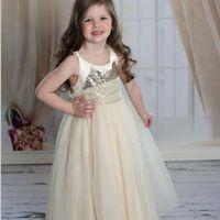 Wholesale Solid Maxi Dresses Wholesale - Sequin Dress Princess Dresses Girl Dress Tulle Dress Girls Maxi Dress 2016 Long Dress Summer Children Clothes Kids Clothing Lovekiss C27526