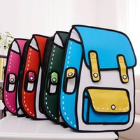 Wholesale New products woman D backpack designers brand male and female cartoon D stereoscopic students bag oxford unisex backpacks New2016