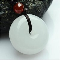 afghanistan jewelry - New Natural Afghanistan White jade pendant Fashion Peace Necklace Fine jewelry For women Free rope