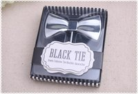 Wholesale Wedding giveaways for guest Black Tie Wine Bottle Opener Creative Gifts Red Wine Cork Screw Opener party favors