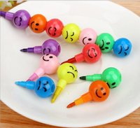 Wholesale 1000 Stationery Colorful WaterColor Brush Smiley Cartoon Pens Pencil Markers Children s Toys Gifts Watercolor pen colors