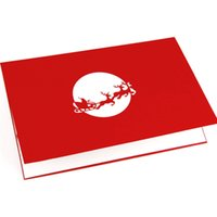 Wholesale The new Christmas cards flying sleigh and Santa Claus stereo cards D Creative Holiday Card