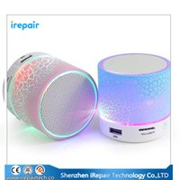 active flash player - New Stone Pattern Bluetooth Speakers Glare LED Flash Light Mini Wireless Active speaker support TF card FM radio A9