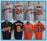 baltimore products - New Product Baltimore Orioles Baseball Jersey Cal Ripken DEMPSEY POWELL EDDIE MURRAY White Black Orange Throwback Jerseys