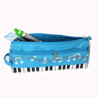 Wholesale 2016 new send musical note pencil case piano pencil case waterproof oxford cloth pencil bag