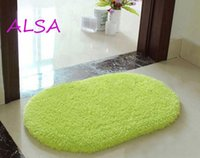 Wholesale Memory foam bathroom mats shaggy rug antiskid bath mat floor shower bedroom carpet doormat soft non slip bath mats washable