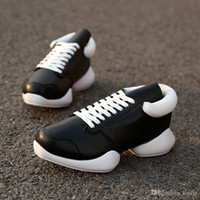 Wholesale New Owen Men Shoes Fashion Genuine Leather Flat Lace up Luxury Trainers Flat Hight Top Black shoes zapatillas hombre botas mujer