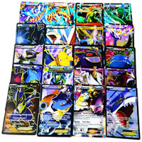 Wholesale 1200pcs EMS New Poke GO Game cards EX MEGA Cards Kids Toy Trading Cards Game English words Poke Carte Children s Christmas Gifts