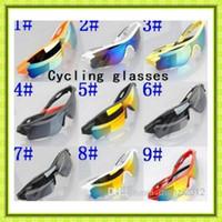 al por mayor vasos fresco al por mayor-Venta al por mayor - 2016 NUEVOS 12 PC / porción + gafas de moda ciclo de los deportes de la bicicleta Eyewear de los anteojos de protección gafas de sol frescas para los hombres \ MUJERES