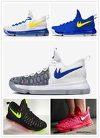 Cheap Free shipping 2016 new arrival top quality Basketball shoes Kevin Durant KD 9 sneaker for men running shoes , size Eur 40-46
