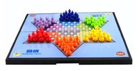 Wholesale Stern Halma Checkers Game Big Size Boutique Hexagonal Checkers color portable folded Chinese Checkers Puzzle Educational Toys