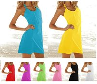 basic ribbon - Womens Candy Color Casual Cotton Camisole Modal Spaghetti Strap Long Tank Tops Spaghetti Strap Vest Basic Slip Mini Dress