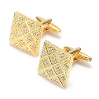 Wholesale Top Grade K Gold Cufflinks For Mens And Women Wedding Brand Cuff Buttons Gifts Jewelry