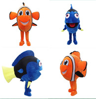 Wholesale New Style Finding Nemo Dory Fish Mascot Costume Cartoon Character Costume Halloween and xmas Party Supply Adult Size