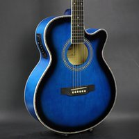 Wholesale The new inch ballad guitar electric box with the blue EQ basswood guitar Acoustic guitar factory sales
