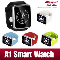Wholesale A1 Smart Watch Bluetooth DZ09 U8 GT08 Smartwatch Apple iWatch Support SIM TF Card Smart Wrist Watches With Silicone Strap Smartphone