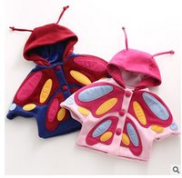 baby capelet - Autumn Butterfly Baby Girls Coat Elegant Butterfly faery Winter Capelet Kids Woolen Outerwear Children Tops Cx329