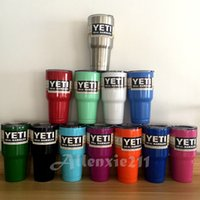 Wholesale Mix Order Yeti Rambler Tumbler oz Rambler Tumbler Bilayer Insulation Cups Cars Beer Mug Large Capacity Stainless Mugs