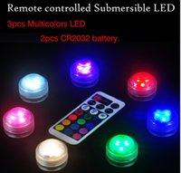 Wholesale Infrared Remote Controlled Waterproof LED Submersible Light with Multicolor LED Beads cm Diameter Adjustable Brightness and Speed