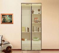 Wholesale 210x90CM multi functional Striped Door Curtains Magnetic Mosquito Door Screen