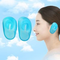 Wholesale 2pcs pair Hair Dye Clear Blue Ear Cover New Styling Accessories Free Anti Staining Earmuffs Protect New Hair Products