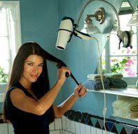 Wholesale New Creative household goods sucker hair drier frame bathroom hair dryer lazy holder