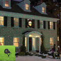 Wholesale New Red Green Firefly Gobos IP65 Outdoor Indoor Projector Laser Lights Landscape Garden Home Xmas Lighting GO RG