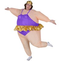 ballerina games - cosplay Ballerina Costume for Men Women with Tiara crown Funny Inflatable Costume for Adults Airblown Funny Inflatable Fat Suit Outfits