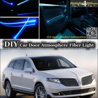 band car doors - interior Ambient Light Tuning Atmosphere Fiber Optic Band Lights For Lincoln MKT Town Car Livery Hearse Door Panel illumination Refit