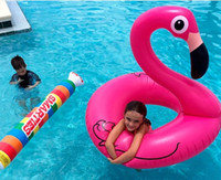 Wholesale Kids Swimming Item - Fast Inflatable flamingo Swimming laps Water supplies 120cm Lifebuoy Inflatable Swan DHL shipping C1039