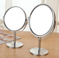 Wholesale Mini Dual Side Normal Magnifying Oval Stand Mirror cm Make Up Cosmetic Mirror for Lady Girl b131