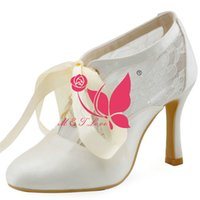 b ornament - Brand New Cheap Boots Ivory Satin Heels Bridal Lace Ornament Boots Pointed Toe Wedding Party Shoes WS0159I Customise Size to