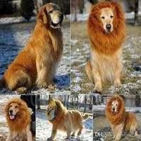 Wholesale Pet Costume Dog Lion Wigs Hair Festival Party Fancy Dress Halloween Costume pet lion hair pet hair accessories