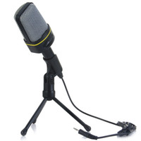 Wholesale High Quality Professional Condenser Sound Microphone with Holder Clip for Chatting Singing Karaoke PC Laptop Skype Recording