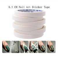 Wholesale 2PCS m cm French Manicure Nail Art Tips Creative Nail Stickers Masking Tape Nail Accessories Nail Art