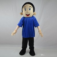 baby music t shirts - 2016 Easter Little Boy Mascot Costume Lad Spadger Baby Boy Cartoon Clothing Wearing Blue T shirt Mascotte Fancy Dress Party