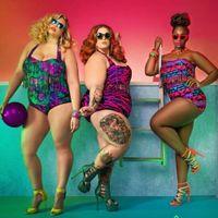 Wholesale 2016 Plus Size Bikini Set Women Ladies Sexy Retro Padded Push Up Tassel High Waist Floral Swimwear Swimsuit Bathing XXXL