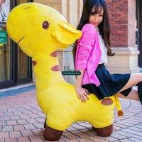 giraffe gifts - Dorimytrader cm Large Plush Stuffed Giant Soft Animal Giraffe Kids Sofa Toy Nice Gift For Babies DY60094