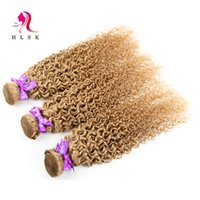 afro hair color - 3 Bundles Brazilian Blond Kinky Curly Weave Hair Extensions Brazilian Hair Weft Boundles Blond Kinky Curly Afro Hair A