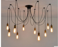 Wholesale Vintage clothing store cafe restaurant chandelier chandelier creative personality Tiannvsanhua bar long spider chandelier